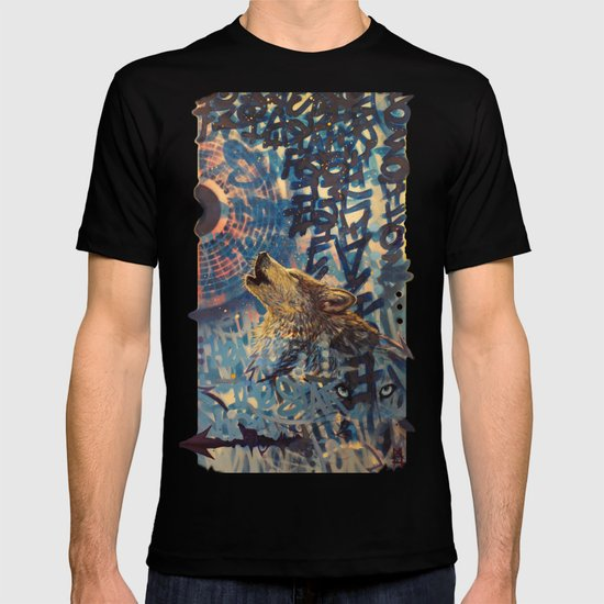 THE WOLF HOWLED AT THE STAR FILLED NIGHT T-shirt