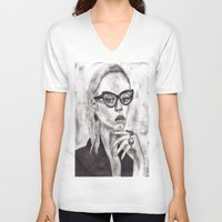 daria V-neck T-shirts featuring Daria by Yuval Ozery