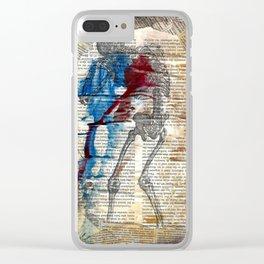 Vesalius mourning skeleton Clear iPhone Case