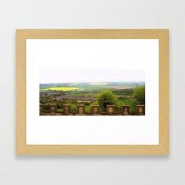 Fields Clapping Framed Art Print