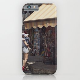 European vintage woman and summer - Street Photography iPhone Case