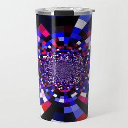 Magenta Purple Indigo Kaleidoscope Mandala Travel Mug