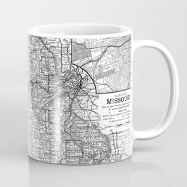 Vintage Map of Missouri (1891) BW Coffee Mug