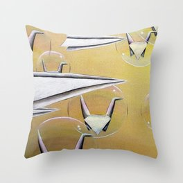 Planes and Cranes Throw Pillow