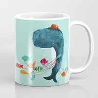 fish Mugs featuring My Pet Fish by Picomodi