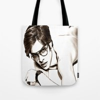 ford Tote Bags featuring Tom Ford by arnedayan