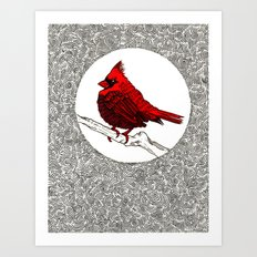 A Red Cardinal Art Print