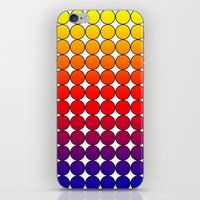 polka dot iPhone & iPod Skins featuring Rainbow Dot Candy Polka dot by ForgottenCotton