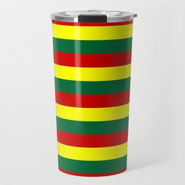 red green yellow stripes Travel Mug