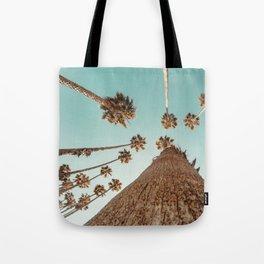 {1 of 2} Hug a Palm Tree // Tropical Summer Teal Blue Sky Tote Bag
