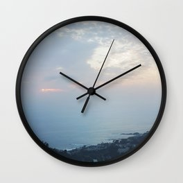 Blue Sunset over the Pacific Wall Clock