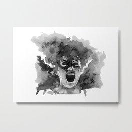 Bride Shrieking Metal Print