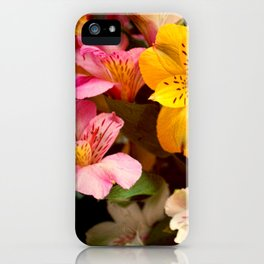 Lily of the Incas Bouquet iPhone Case