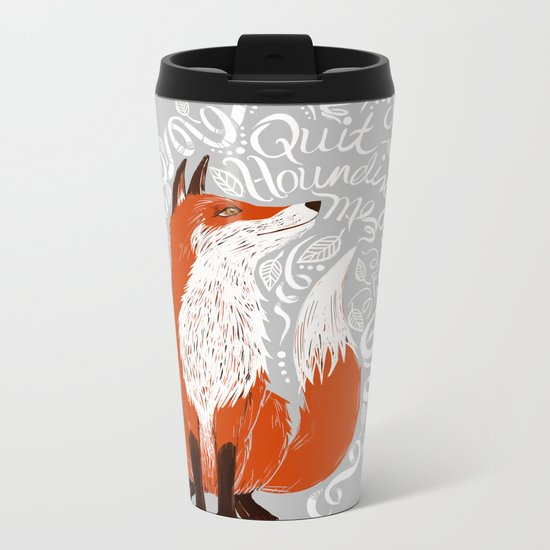 The Fox Says Metal Travel Mug