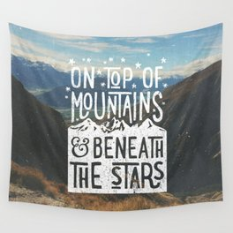 on top of mountain and beneath the stars Wall Tapestry