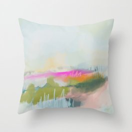The Dream Abstract Painting Throw Pillow