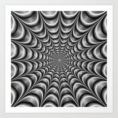 Metallic Web Art Print