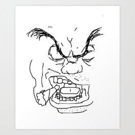 Screamin' Smokin' Sarge Art Print