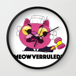 Meowverruled! Wall Clock