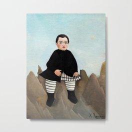 Henri Rousseau - Boy on the Rocks Metal Print