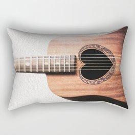 Guitar Heart Rectangular Pillow