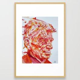 SAMUEL BECKETT watercolor portrait Framed Art Print