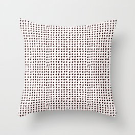 Dots (Shadowed) - Black x Coral Throw Pillow