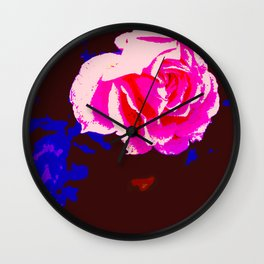 Alpine Sunset Chintz Wall Clock