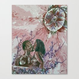Cherry Blossom Moon Remix Canvas Print