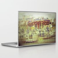 carousel Laptop & iPad Skins featuring Carousel  by Amber Hakim