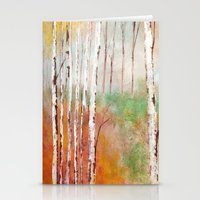 birch Stationery Cards featuring Birch  by Indraart
