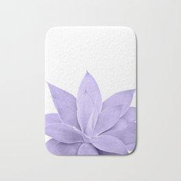 Ultra Violet Agave on White #1 #tropical #decor #art #society6 Bath Mat