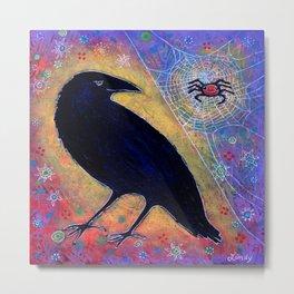 Mr. Raven, Meet Miss Spider Metal Print