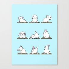 Bunnies Yoga Canvas Print
