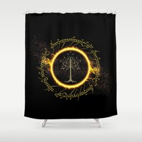 gondor Shower Curtains featuring Lord Of The Ring Circle by Electra