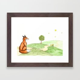 The little Prince and the Fox Framed Art Print