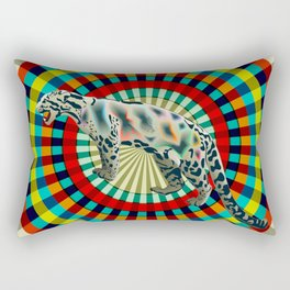 Clouded ( rainbow ) Leopard Rectangular Pillow