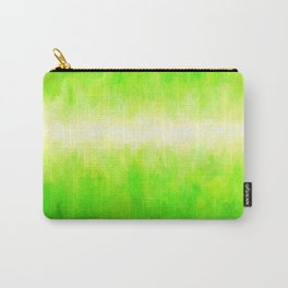 Yellow Green Lime Grass Carry-All Pouch