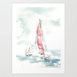 A sailors dream Art Print