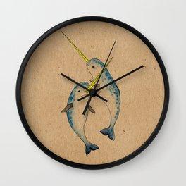 Winter Narwhals Wall Clock