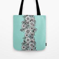 Penguins & Flowers Tote Bag
