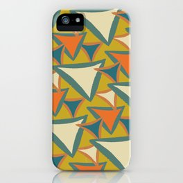 Decades Young 70's Living Room Triangles iPhone Case