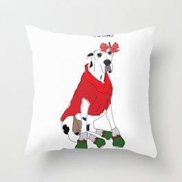 Mrs. Paws Throw Pillow