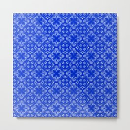 Sapphire Blue Shadows Metal Print