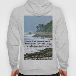 there is no problem in life that can't be solved by taking a walk along the beach... Hoody