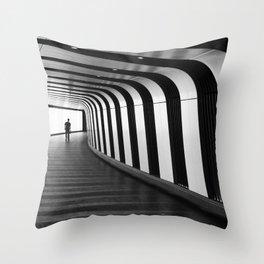 Futuristic Underground Throw Pillow