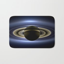 Rings of Saturn During Eclipse of the Sun Spacecraft Fly-by Photograph Bath Mat