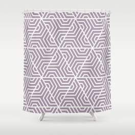 Heliotrope gray - violet - Geometric Seamless Triangles Pattern Shower Curtain