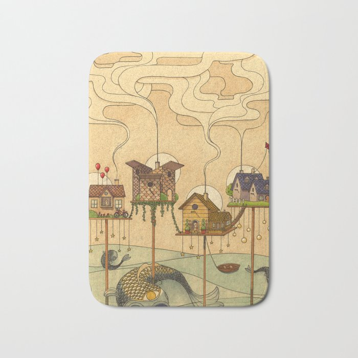 Sea Houses Bath Mat