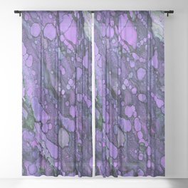 Purple River Sheer Curtain